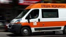 Микробус се обърна в канавка край Пловдив, шофьорът откаран в болница