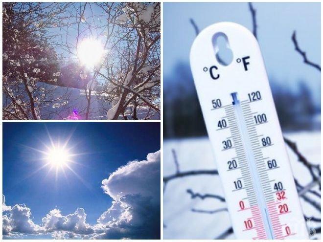 ТОПЛА КОЛЕДА! Идват пролетни температури за празниците, но с опасен вятър (КАРТА)