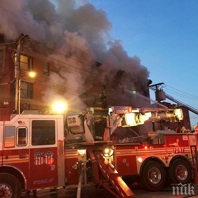 Броят на пострадалите от новия пожар в Бронкс се увеличи на 23 души