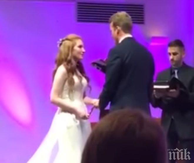 ДА ЗАБИЕШ НОС: Мъж не издържа протяжна сватбена церемония и припадна (ВИДЕО)