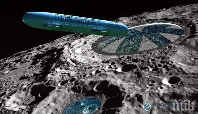 ЧУДО! Уфолог открил извънземен кораб на Луната (ВИДЕО)