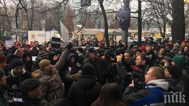 Протест в Киев заради убийството на адвокатка! Протестиращите искат бързо разследване