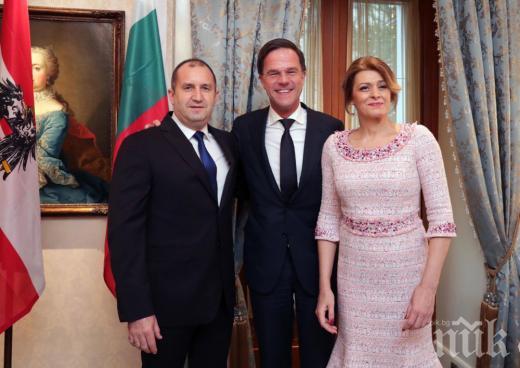 ПРЕТ-А-ПОРТЕ! Генерал Деси хвали дизайнерка за тоалета в бебешко розово от Виена! Ето какво написа жената на президента (СНИМКИ)