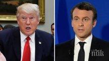 Президентите на САЩ и на Франция са обсъдили Иран и Северна Корея