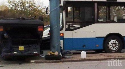 четирима души пострадали врязване автобус градския транспорт банков клон близост аахен
