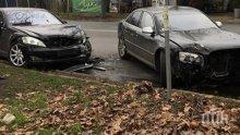 ОТ ПОСЛЕДНИТЕ МИНУТИ! Тузарски лимузини за стотици хиляди евро се размазаха в Бургас (СНИМКИ)