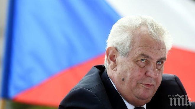 Милош Земан води убедително на първия тур на президентските избори в Чехия