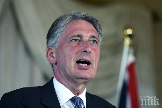 Британският финансов министър хвърли бомба: Лидерите на ЕС са параноични