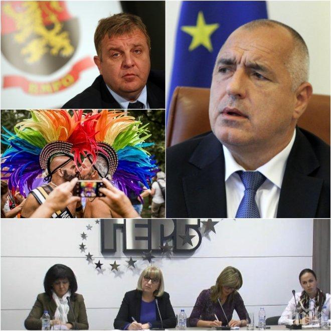 САМО В ПИК! ЕКШЪН В КОАЛИЦИЯТА: Лесбийски организации прокарват текстове в Истанбулската конвенция, Борисов и Каракачанов ги отстраняват - някой пак ги вкарва
