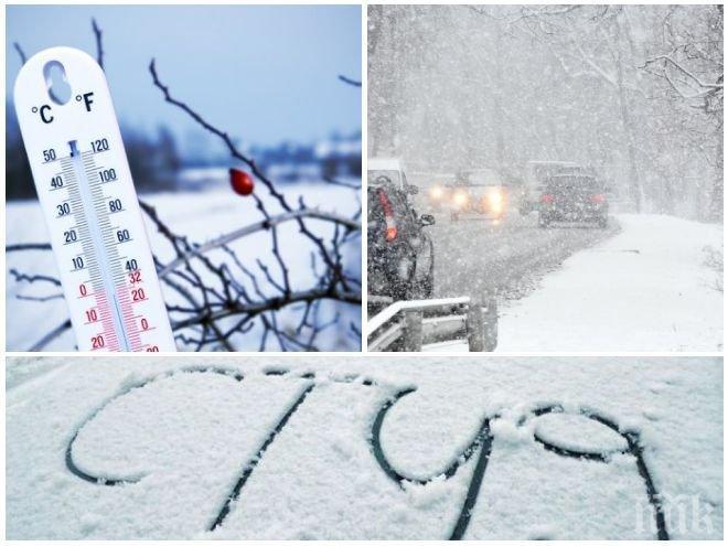 ЗИМАТА СЕ ЗАВРЪЩА! Студен въздух нахлува с пълна сила, сняг ще завали в цялата страна