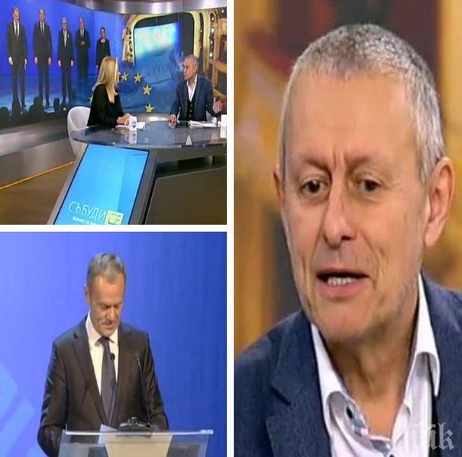 ГОРЕЩО! Соломон Паси с ексклузивен коментар за речта на Туск, за европредседателството, за папата и Христо Стоичков