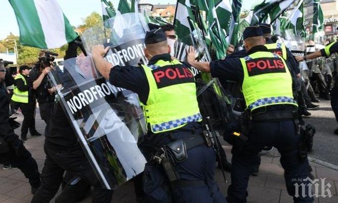 15 членове на неонацистко движение бяха задържани от полицията в Гьотеборг