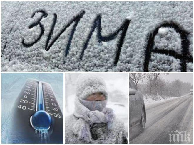 КУЧИ СТУД! Снеговете спират, но температурите продължават да падат, а северният вятър ще се усилва