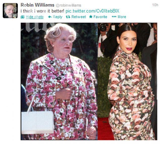 Робин Уилямс: Мисис Даутфайър изглежда по-добре от Ким Кардашиян