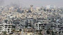 Най-малко девет загинали след минометен обстрел срещу жилищен квартал в Дамаск