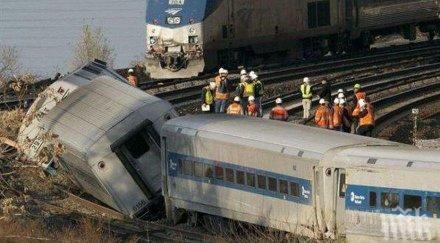 инцидент пътнически влак дерайлира удари загражденията спирка австралия ранени