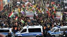 В Германия разпръснаха протест на кюрди срещу офанзивата на Турция в Сирия