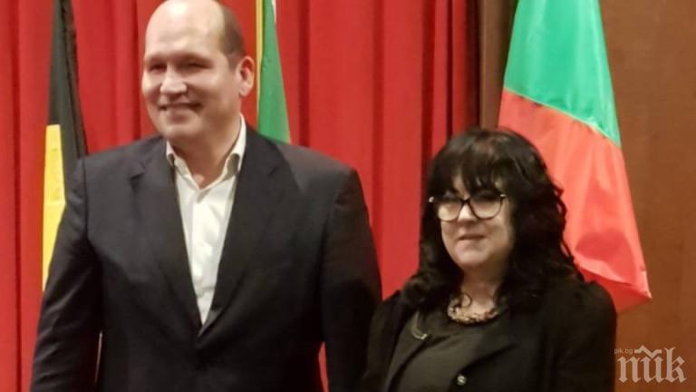 Българското знаме се развя от кметството в Брюксел