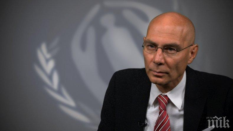 ИЗВЪНРЕДНО В ПИК TV! Шефът на комитета за бежанците в ООН с важна информация от форума за правосъдие и вътрешни работи в София