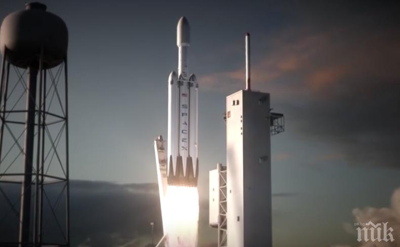 От Space X съобщиха за успешен тест на ракета-носител Falcon Heavy