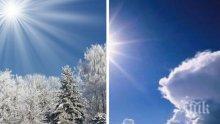 ПРЕКРАСНА ПРОГНОЗА! Изпращаме работната седмица със слънце и пролетни температури