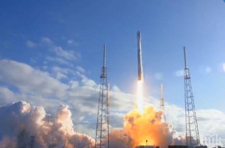 Ракета-носител Falcon 9 със спътник е била изстреляна във Флорида