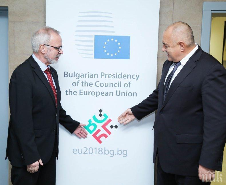 Премиерът Борисов и президентът на ЕИБ обсъдиха Западните Балкани