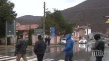 Над 200 души се включиха в протеста в подкрепа на кмета на Община Септември Марин Рачев