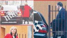 """САМО В ПИК И """"РЕТРО""""! Мъжът на Мая Манолова ползва служебния й мерцедес с шофьор (ПАПАРАШКИ СНИМКИ)"""