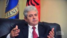 Али Ахмети е активен и в Прищина, обсъждал е подялбата на Косово с премиера на Албания и президента на Косово