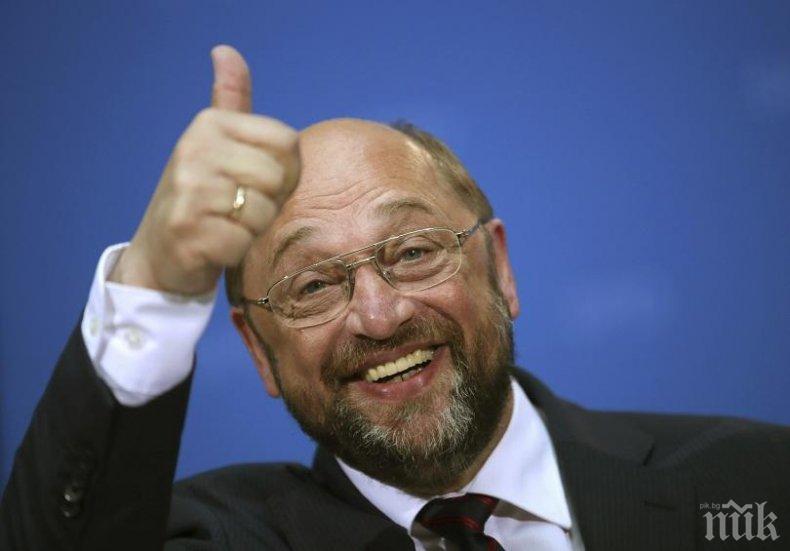 Вицето на германските социалисти: Мартин Шулц е голям човек!