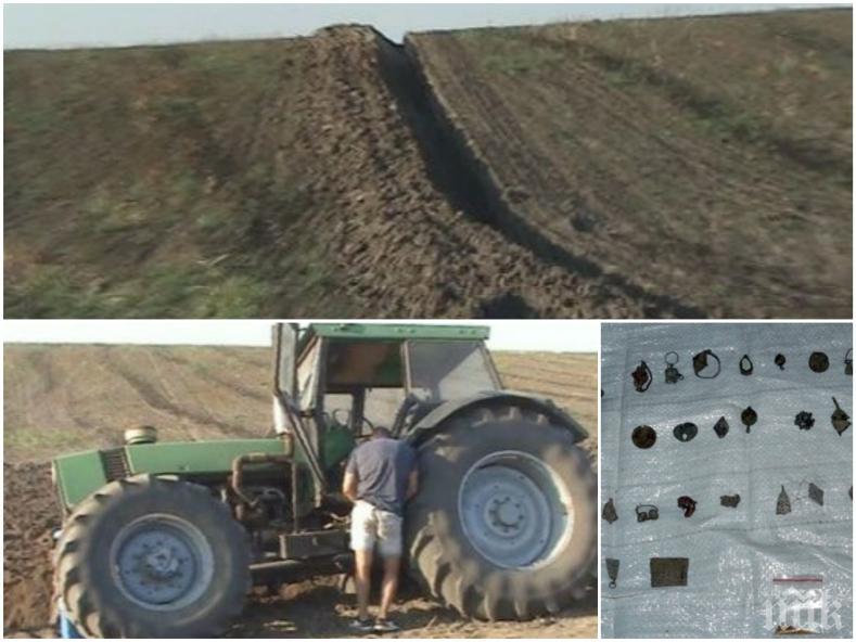 В Плевен съдят петима иманяри, изорали антично селище с... трактор
