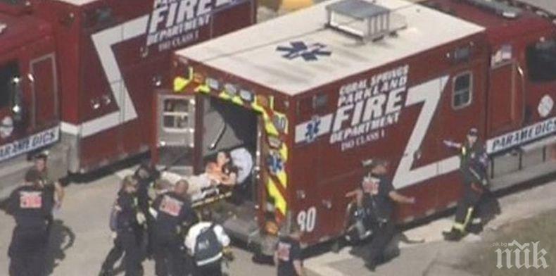 Ужасяващо! CNN: Най-малко 16 са жертвите на стрелеца в училището във Флорида
