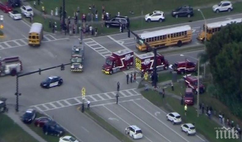 Най-малко 20 ранени при стрелба в училище във Флорида