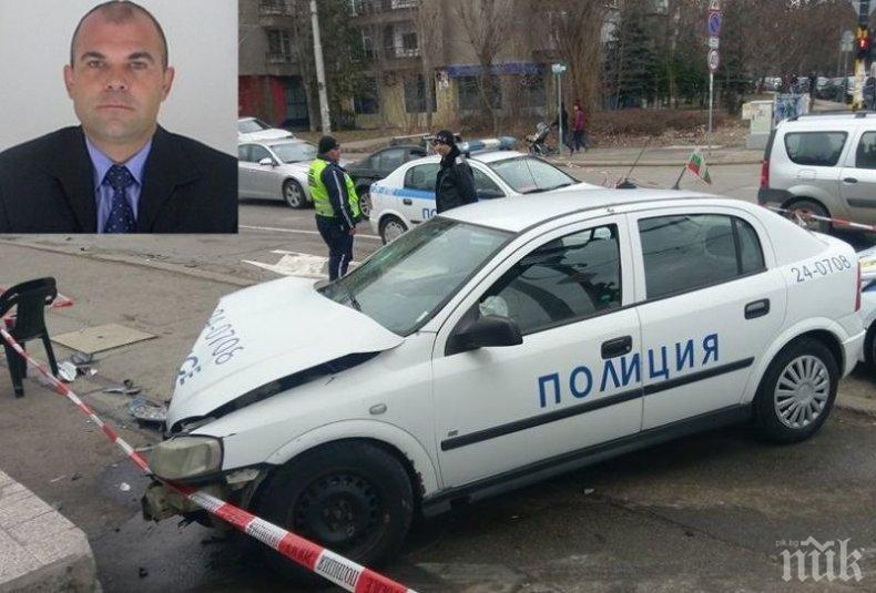 МЕЛЕ В МОНТАНА! Полицейски шеф катастрофира със служебен автомобил, рани колежка