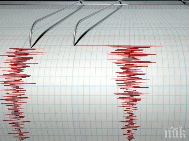 Трус! Земетресение с магнитуд 5.5 е регистрирано до бреговете на Индонезия
