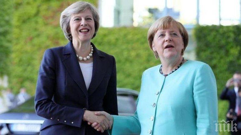 Тереза Мей ще проведе решаващи разговори с Ангела Меркел за преходния период на Брекзит