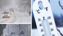 СИБИРСКИ СТУД! Температурите остават ниски, продължава да вали сняг