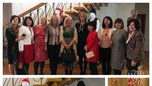 ЕКСКЛУЗИВНО В ПИК! Деси Радева заплете Пижо и Пенда с жените на посланиците - президентшата пак подкъси роклята (СНИМКИ)