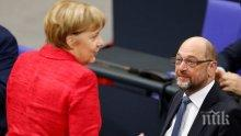 Ангела Меркел доволна от възможността да продължи сътрудничеството си с ГСДП в полза на Германия