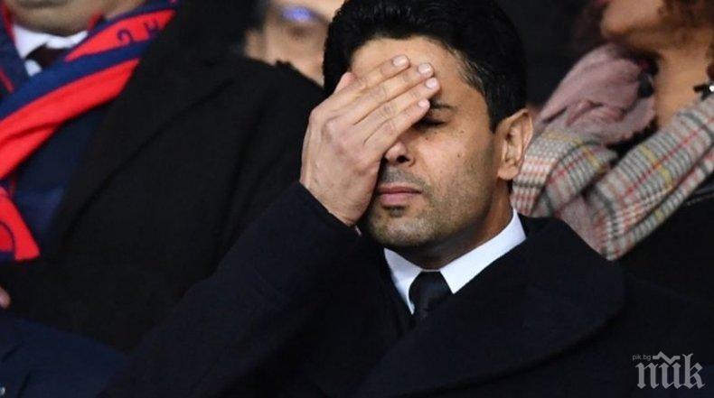 БЕСЕН! Босът на ПСЖ скастри здраво футболистите след провала