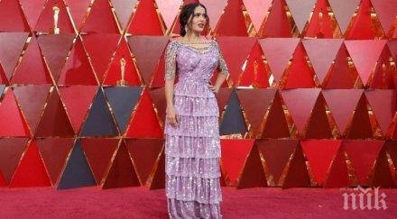 Салма Хайек с най-грозна рокля на Оскарите