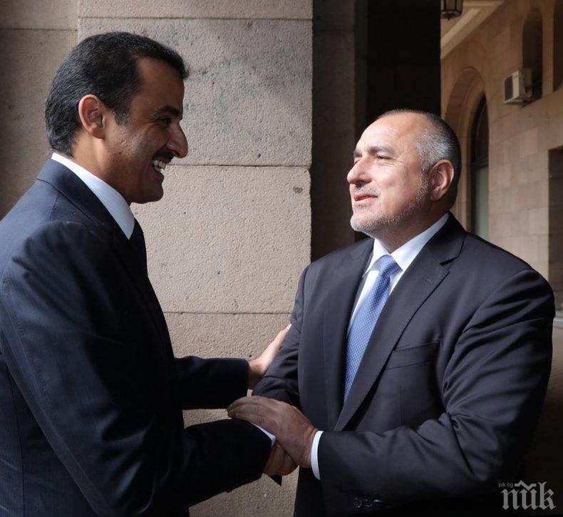 ПЪРВО В ПИК TV! Премиерът Борисов прие емира на Катар - ето какво се договориха (ОБНОВЕНА)