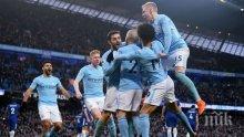 Манчестър Сити с още една крачка към титлата във Висшата лига