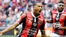 Заместникът на Балoтели се развихри с четири гола в един мач за Ница