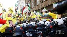 ИЗВЪНРЕДНО! ЕКШЪН В ЕС! Кюрдски демонстранти се сблъскаха с полицията в германско летище и затвориха две ж.п. гари във Великобритания