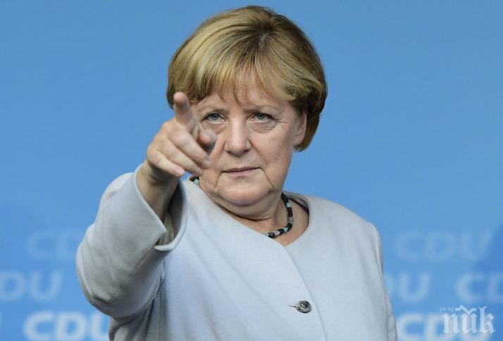 ЕКШЪН В ГЕРМАНИЯ! Азиатец се опита да нападне Меркел (ВИДЕО)
