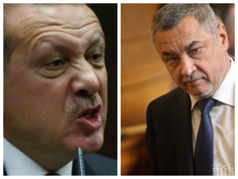 Валери Симеонов скочи на Ердоган: Прекрояването на граници в Европа е недопустимо!