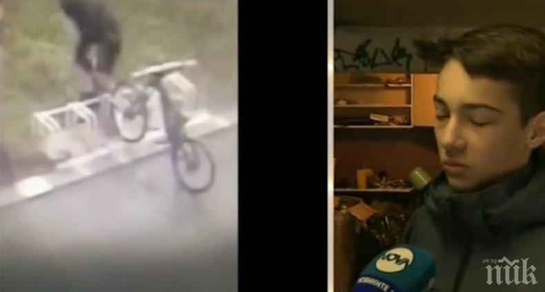 Ученик половин година сам си сглобява колело, откраднаха му го на втория ден