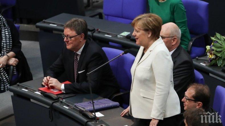 ОФИЦИАЛНО! Избраха за четвърти път Ангела Меркел за канцлер на Германия